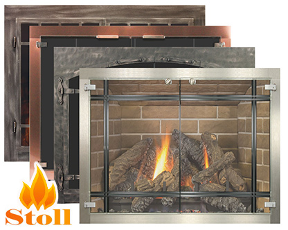 Installing glass fireplace doors on your open burning fireplace can help heat efficiency and be a cost-effective solution to a number of fireplace issues like a drafty or smoky fireplace. Come to our Fort Collins CO hearth store to view our collection of glass fireplace doors.