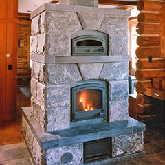 tulikivi masonry fireplace heater in colorado