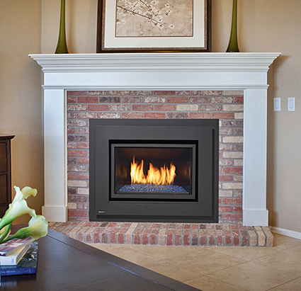 Gas fireplace inserts are incredibly easy to use and offer a clean burning