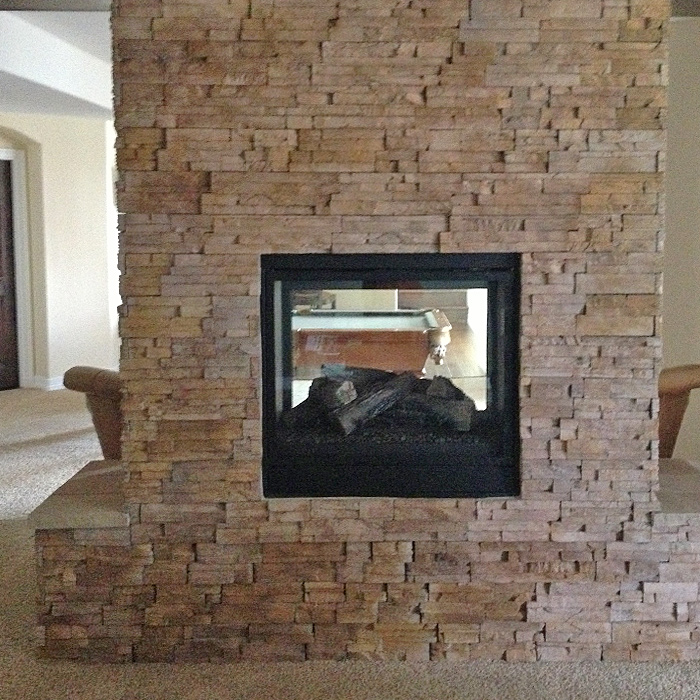 Double-Sided Fireplace - installed in Severance CO