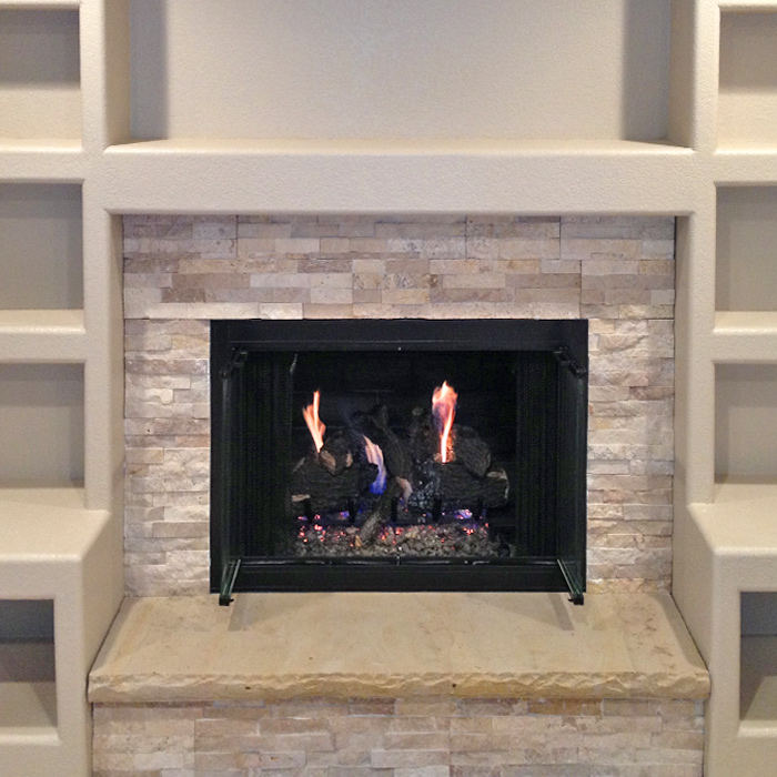 Modern Gas Fireplace & Surround - Wellington CO