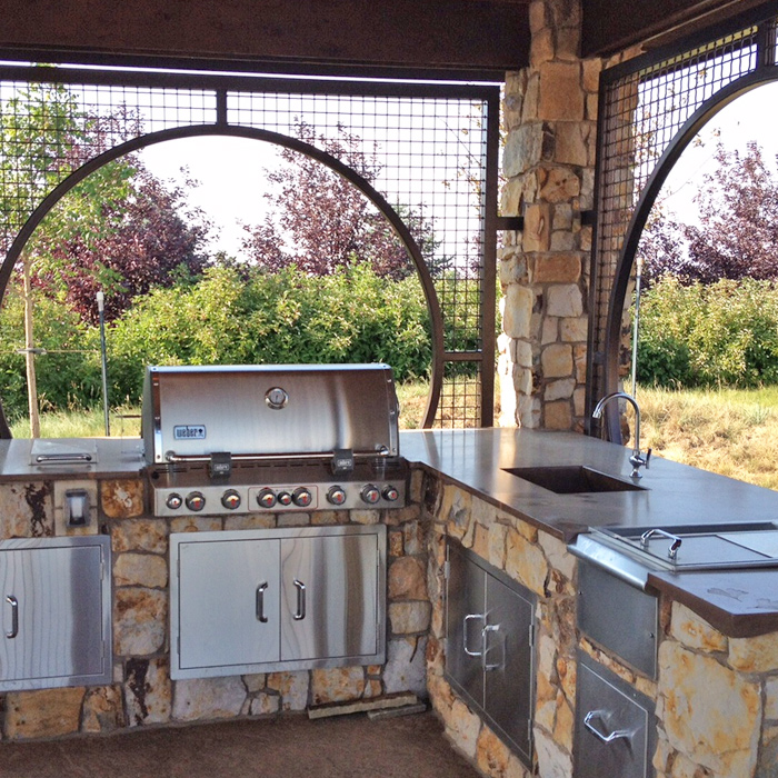 Outdoor Kitchen & Grill Installed at home in Boulder CO