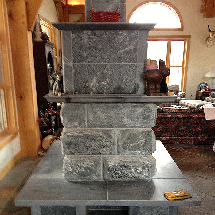 Southern Wyoming Tulikivi Fireplace Installation