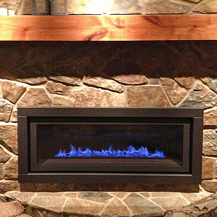 Linear Gas Fireplace in Estes Park CO
