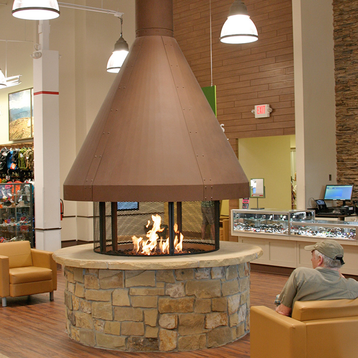 Incredible Gas Fireplace - Commercial Installation - Crystal Lakes CO