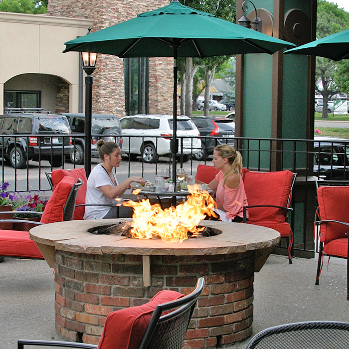 Gas Firepit installed at restaurant in Greeley CO