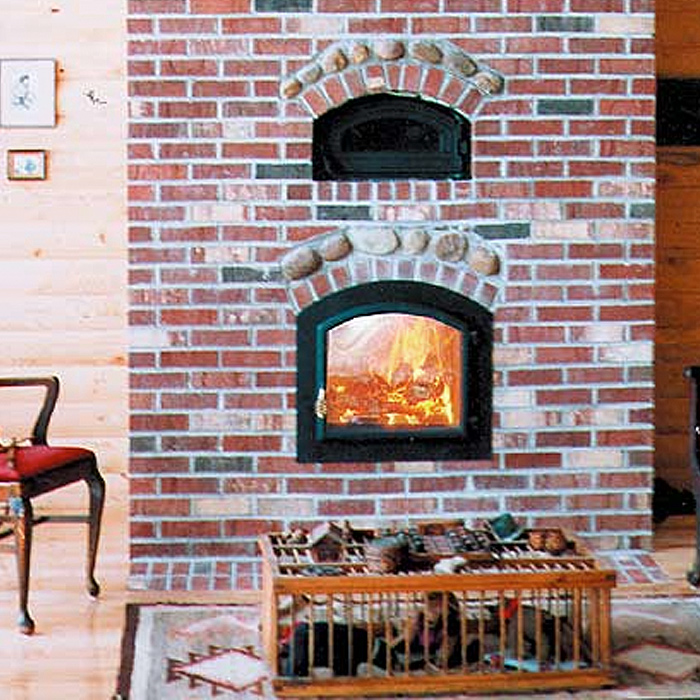 Temp Cast Brick Fireplace installed in Crystal Lakes CO