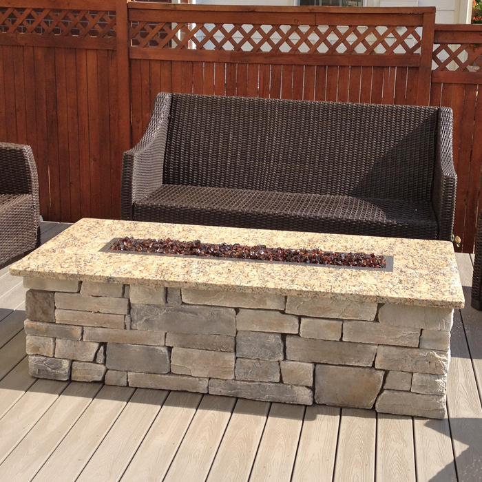 Outdoor gas fire features installed in Berthoud CO