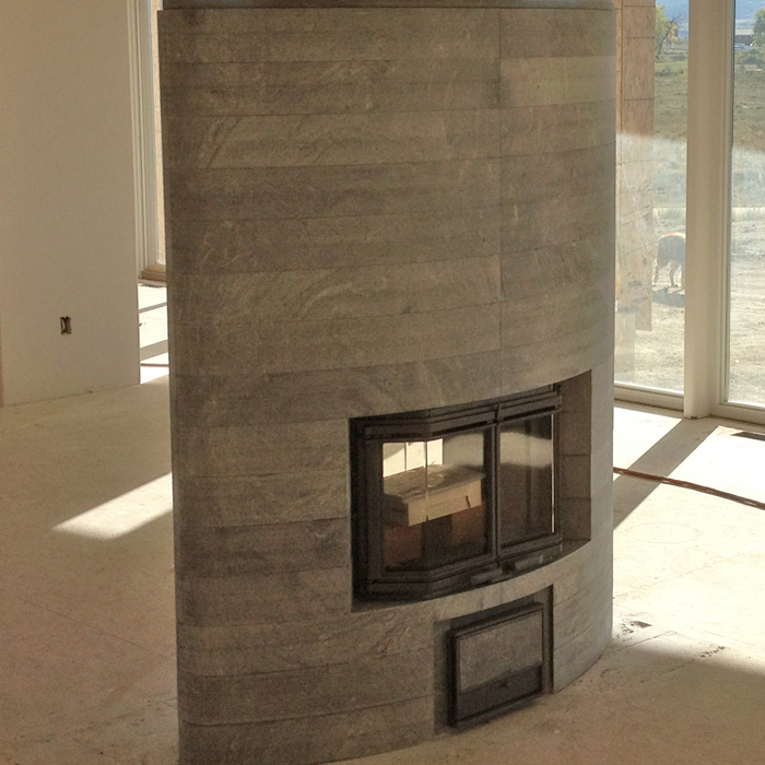 Crystal Lakes CO and Livermore tulikivi fireplace installed