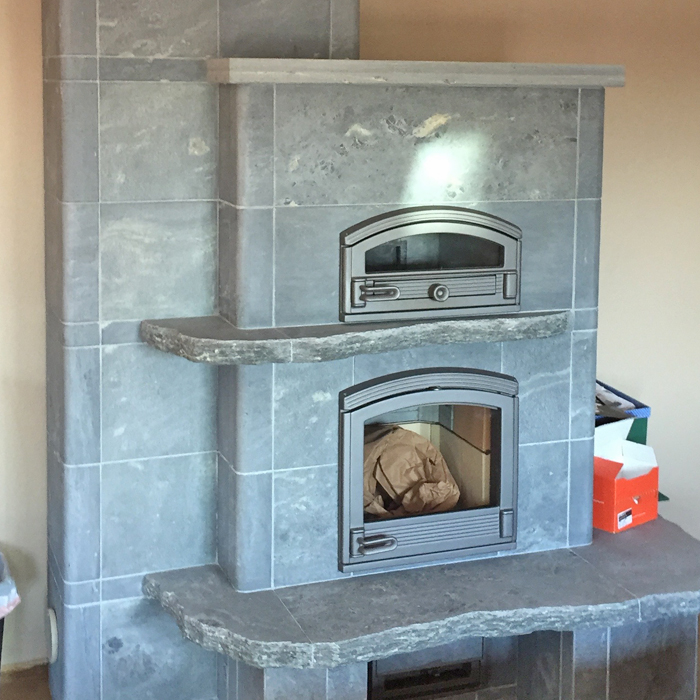 Red Feather Lakes CO and Bellevue tulikivi fireplace