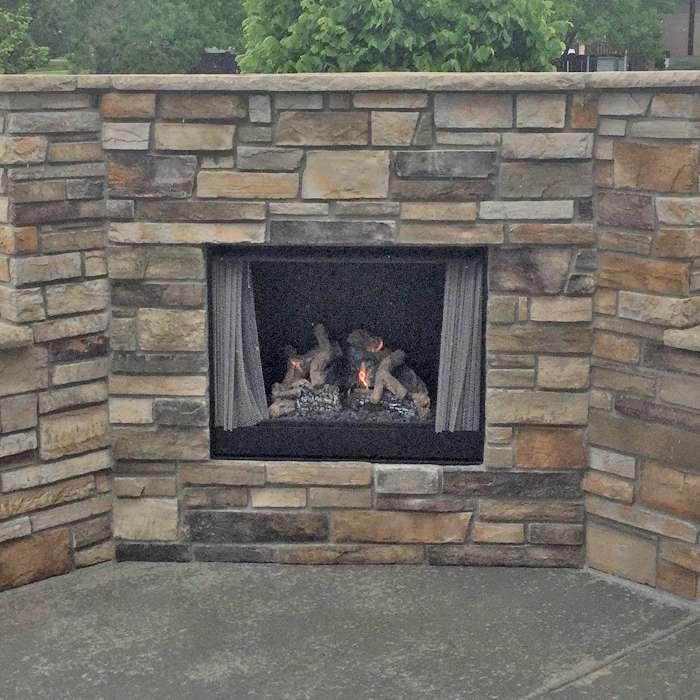 outdoor fireplaces installed in windsor near severance co