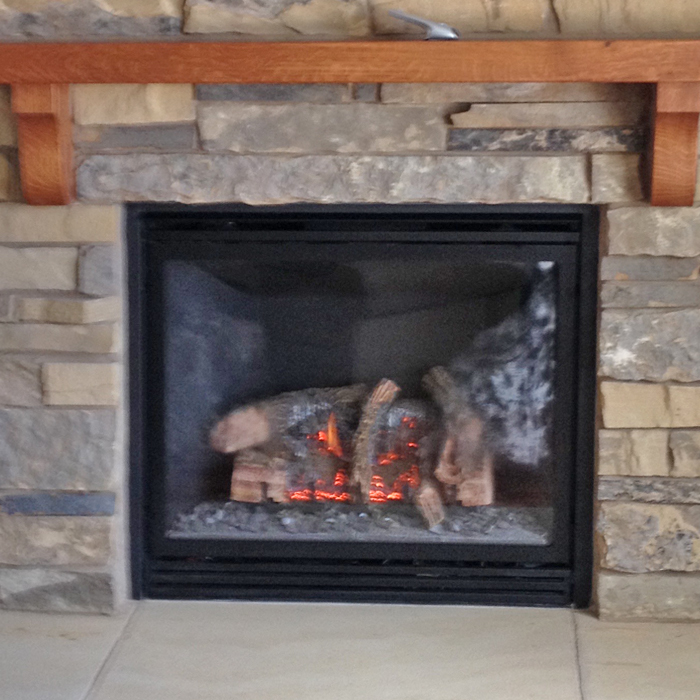 gas fireplace installed longmont and greeley co
