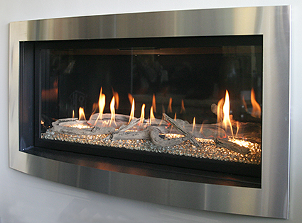 A zero-clearance fireplace is a factory-made