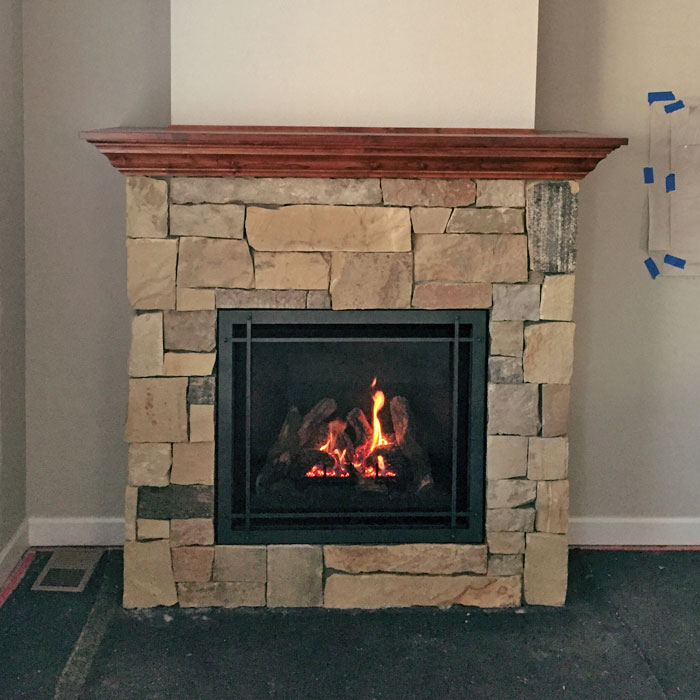 stone fireplace in Severance CO