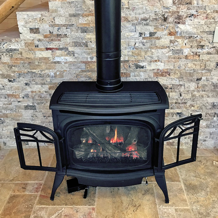 iron stove in Red Feather Lakes CO