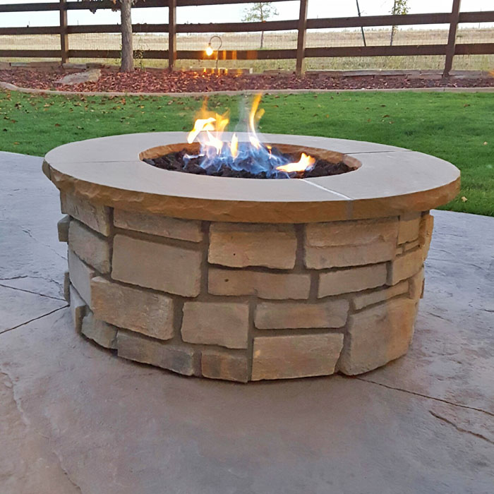 outdoor firepit in Greeley CO