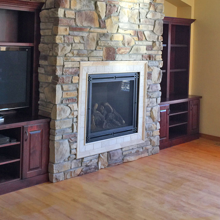 large fireplace in Windsor CO