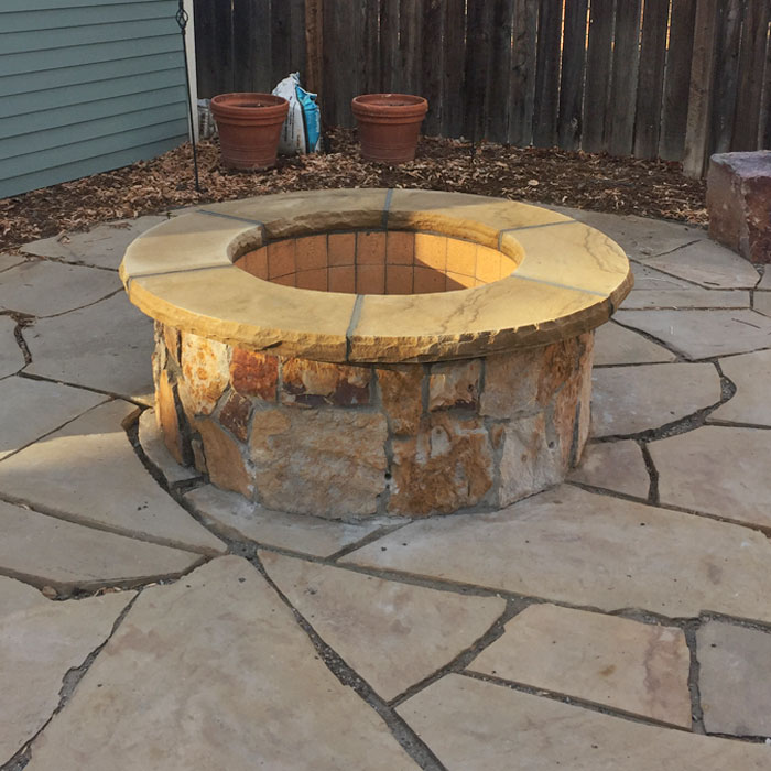 outdoor firepit in Fort Collins CO