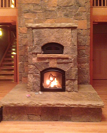 Custom Built Temp-Cast Fireplace in Fort Collins CO