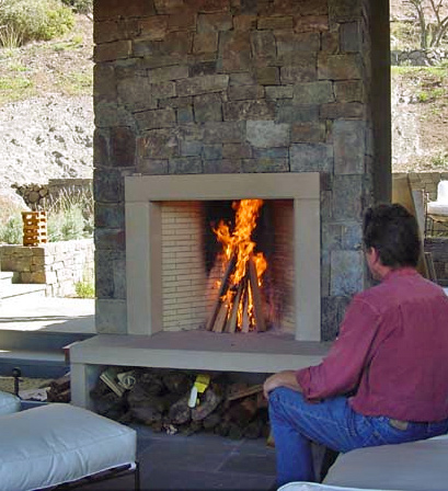 Wood burning outdoor fireplace - Boulder CO