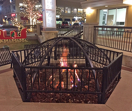 fire pit at mall near ft collins colorado