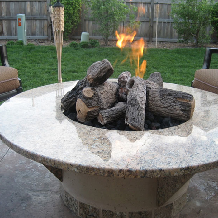 Outdoor Gas Fire Feature - Glen Haven CO