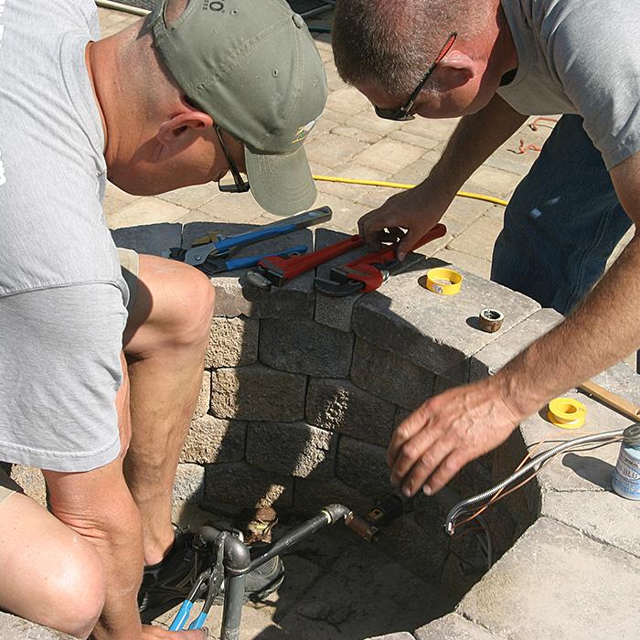 Boulder County Gas Firepit Installation