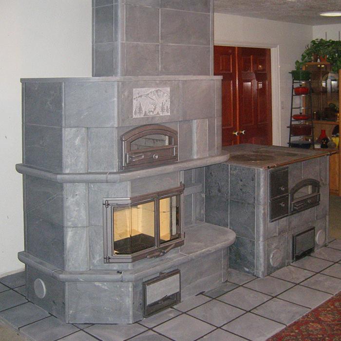 Tulikivi Masonry Heater Installation - Southern Wyoming