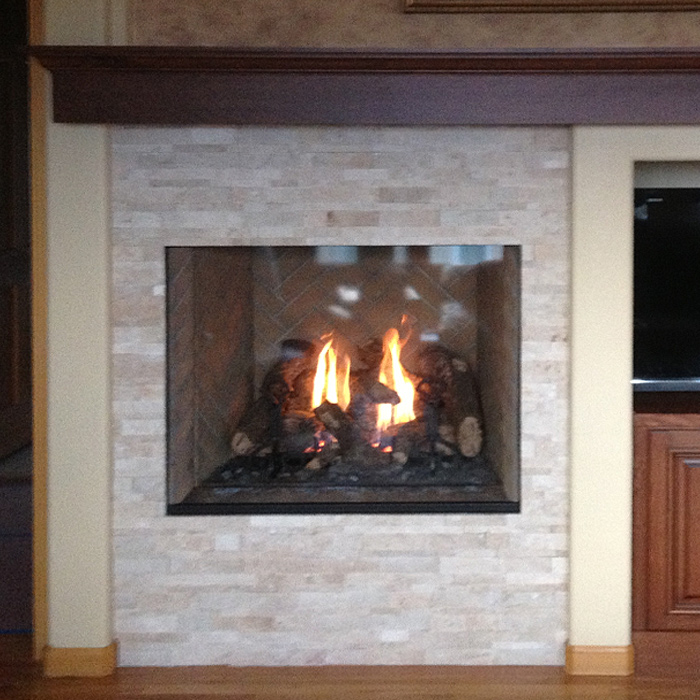 Modern Gas Fireplace - Red Feather Lakes CO