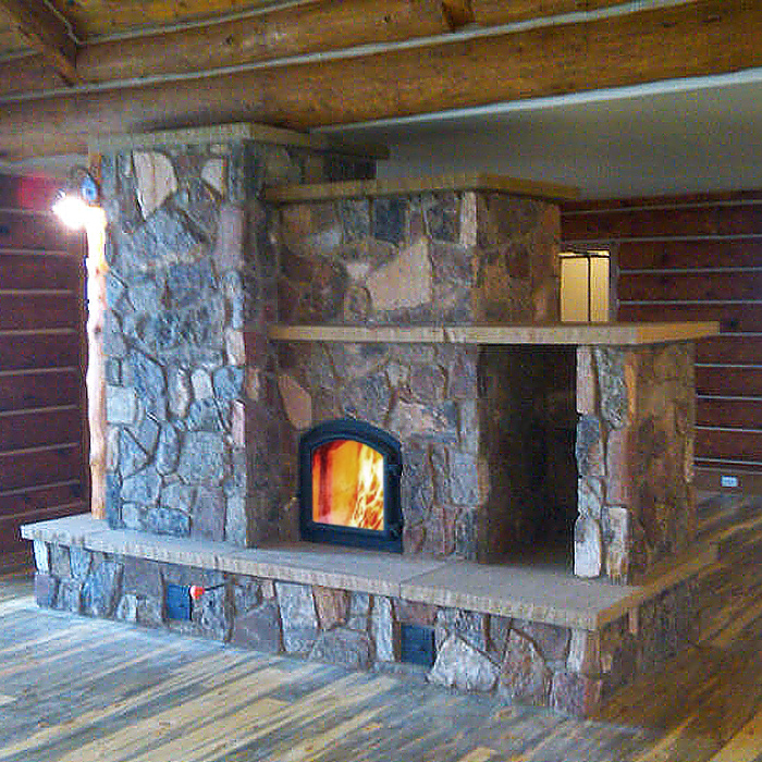 Custom Installation of Temp-Cast Wood Burning Masonry Heater - Livermore CO