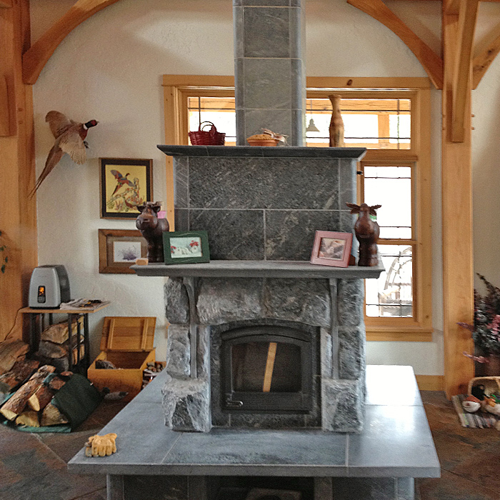 Custom Installation of a Tulikivi Masonry Heater - New Mexico