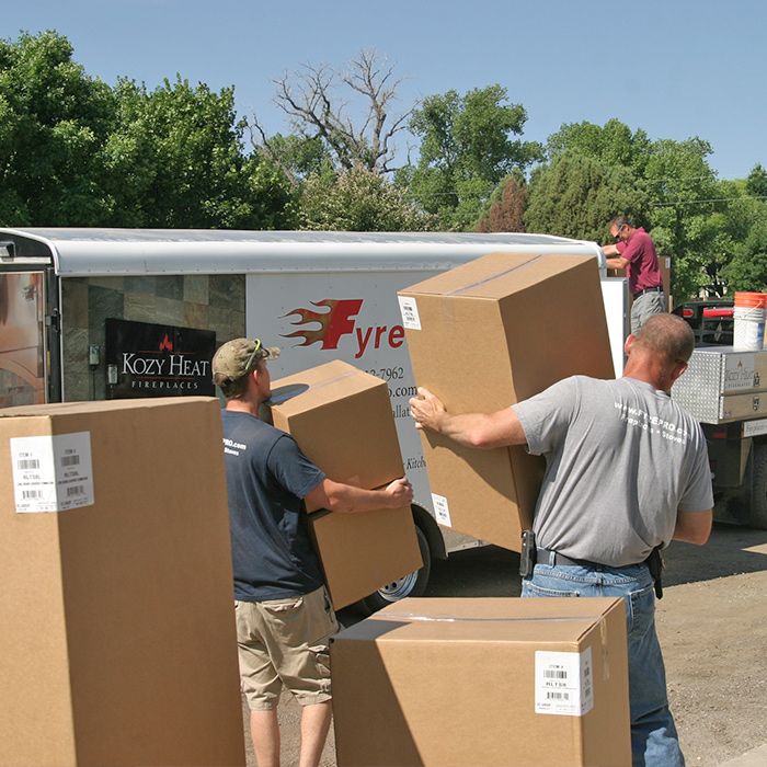 Fully stocked Fort Collins Hearth store delivers fireplace