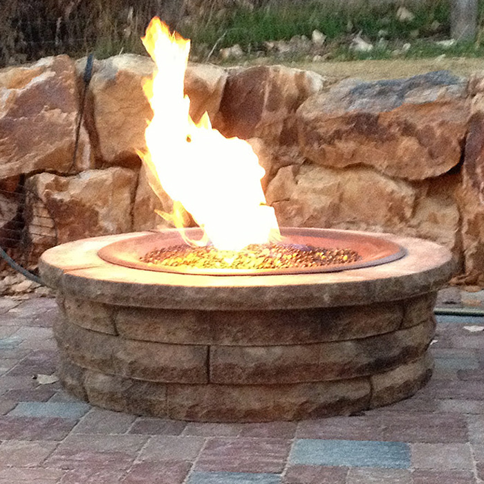 Outdoor Firepit at home in Longmont CO