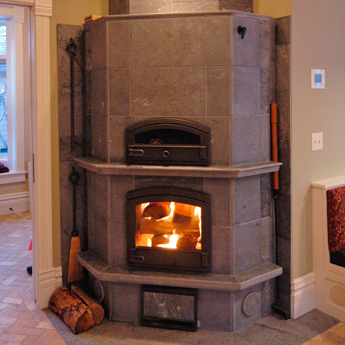 Custom Tulikivi Fireplace - New Mexico