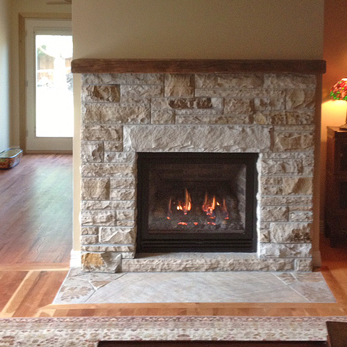Modern Gas Fireplace installed in Loveland CO