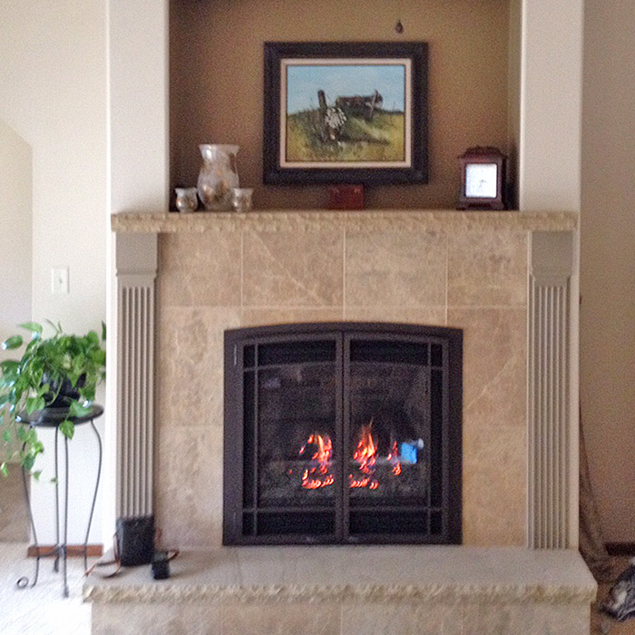 Berthoud CO - custom gas fireplace installation