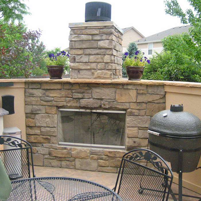 Outdoor Fireplace installed in Berthoud CO