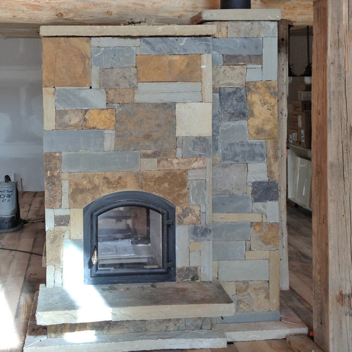newly installed temp cast fireplace in timnath and windsor co