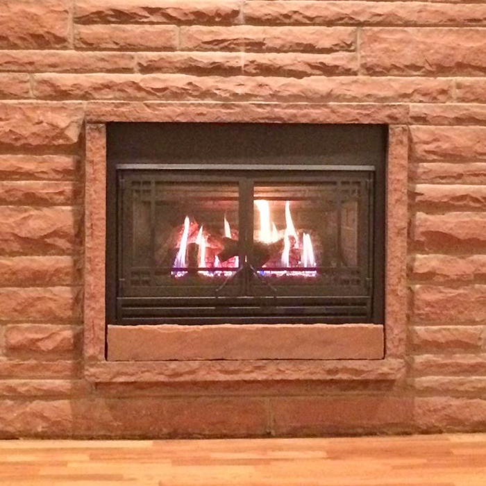 gas fireplace installed by weld county and johnstown co