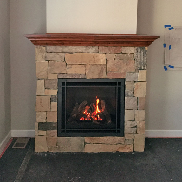 new fireplace in Lyons CO
