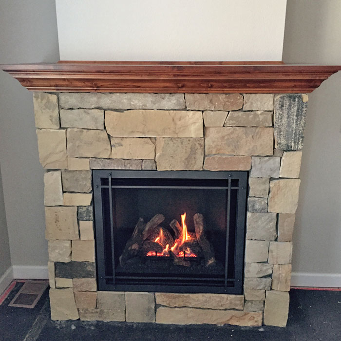 new fireplace in Glen Haven CO
