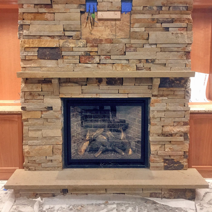newly installed fireplace in Crystal Lakes CO