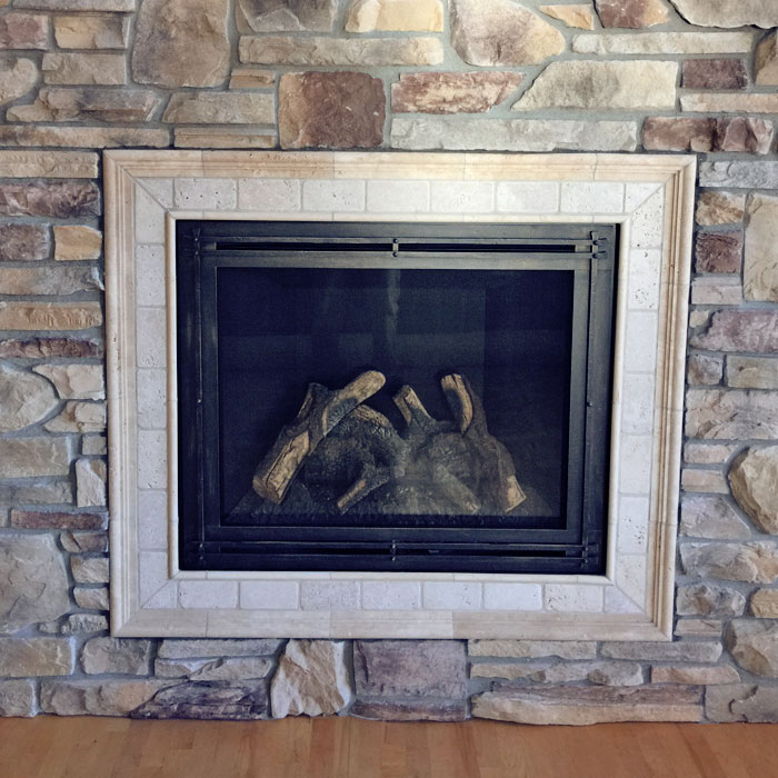 good looking fireplace in Timnath CO