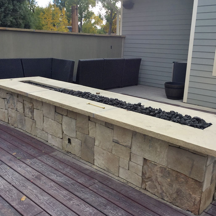 custom outdoor firepit in Loveland CO