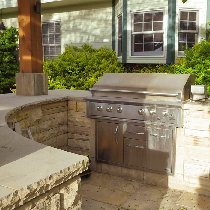 outdoor kitchens and fire pits installed in Larimer County