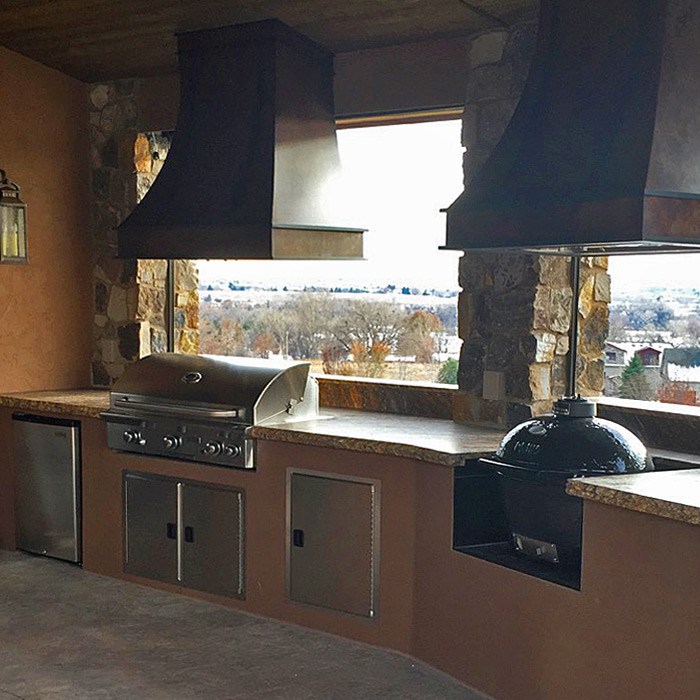 Estes Park CO installation of outdoor kitchen and built-in gas grill