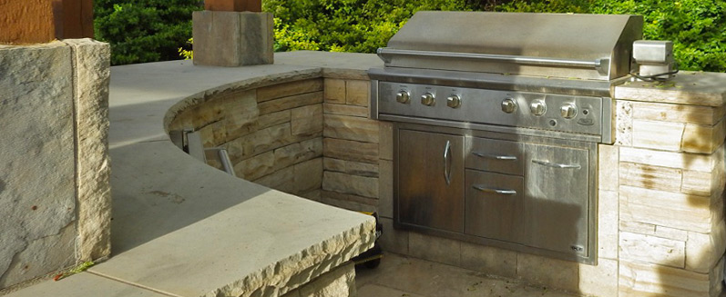 estes park co built-in grill and outdoor kitchen