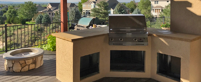 outdoor kitchen installed in loveland co