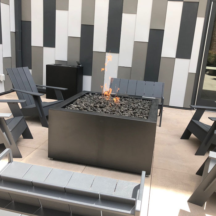 beautiful modern outdoor firepit in boulder co