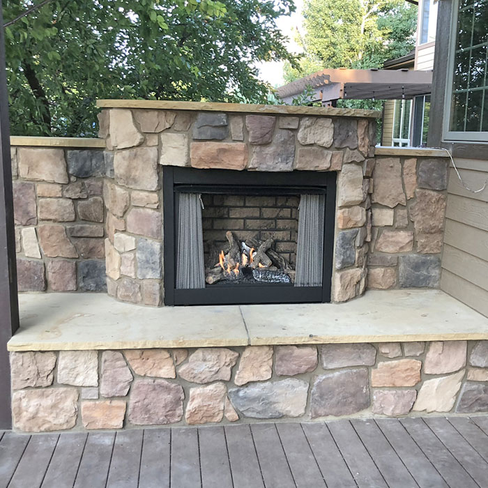 fort collins co completed outdoor fireplace